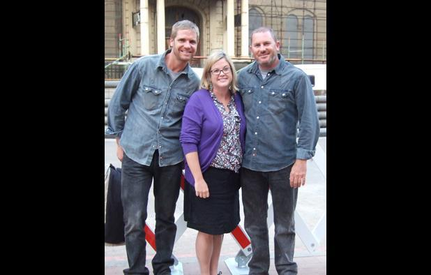 Paul Walker's stand in, Screen's Wendy Mitchell and Walker's stunt double.